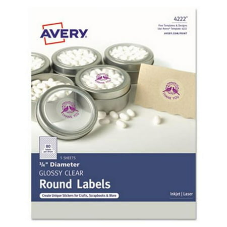 Avery Dennison 4222 0.75 in. Round Printable Self-Adhesive Perm Label (Halloween Food Labels Printable)
