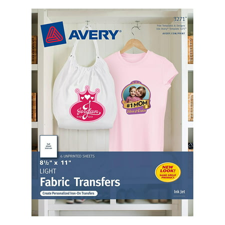 T-shirt Transfers for Inkjet Printers, 8.5 x 11 Inches, for use with White or Light Colored Fabric, 6 Sheets (03271), Quality results for a.., By