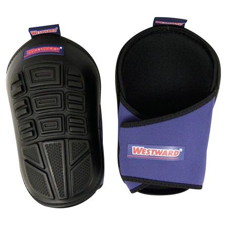 Westward 5MZH8 One Size Fits All Black/Blue Knee Pads ()