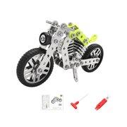 Mojoyce Alloy Assemble Motorcycle Model Vehicle Toys Kids Blocks Puzzles (158pcs)