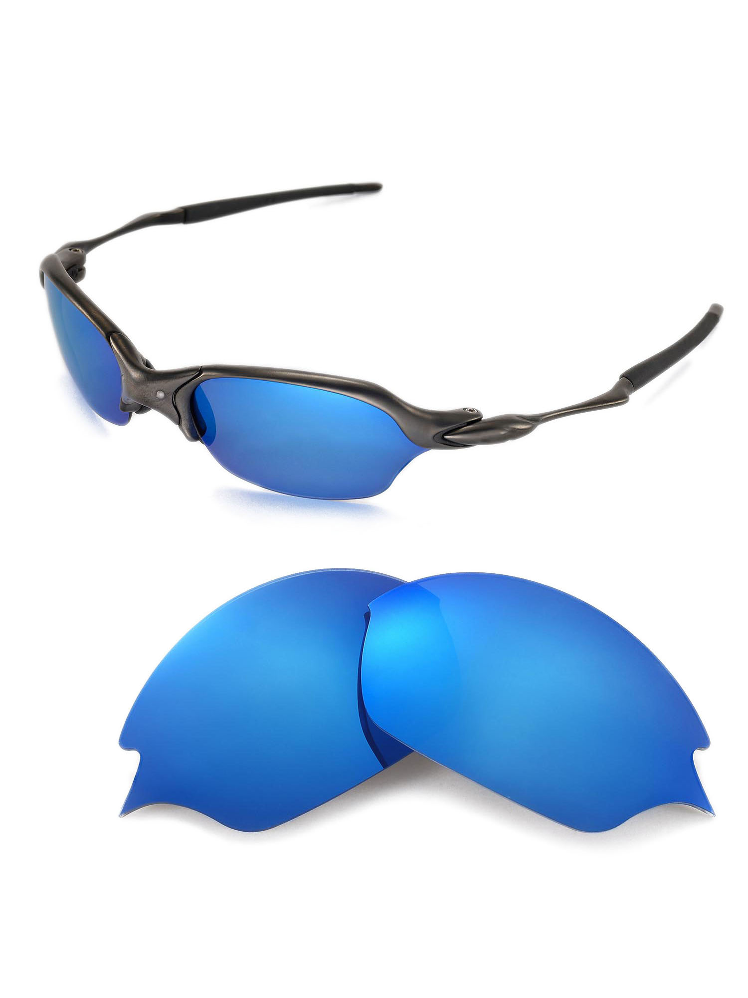 13f66c6bc1d Walleva - Walleva Emerald Polarized Replacement Lenses for Oakley Romeo 2.0  Sunglasses - Walmart.com
