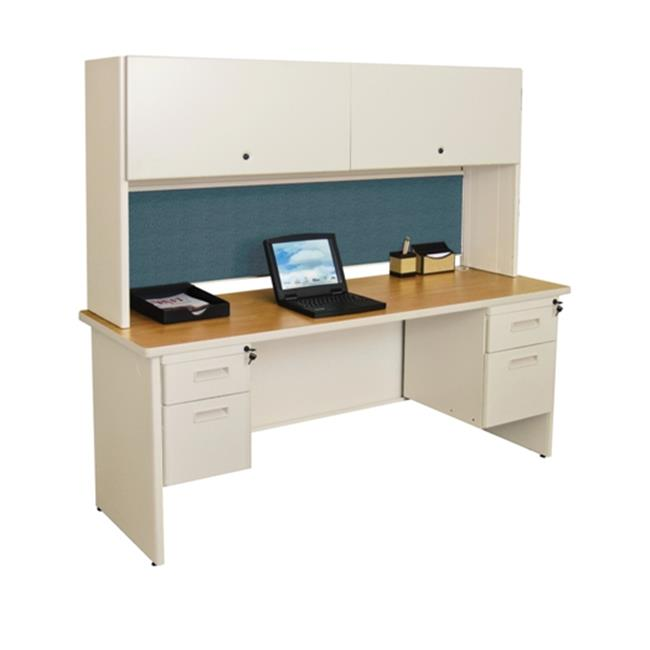Marvel PRNT5DTMA_8568 Pronto 72'' Double File Desk with Flipper Door Cabinet Dark Neutral-Slate by MARVEL