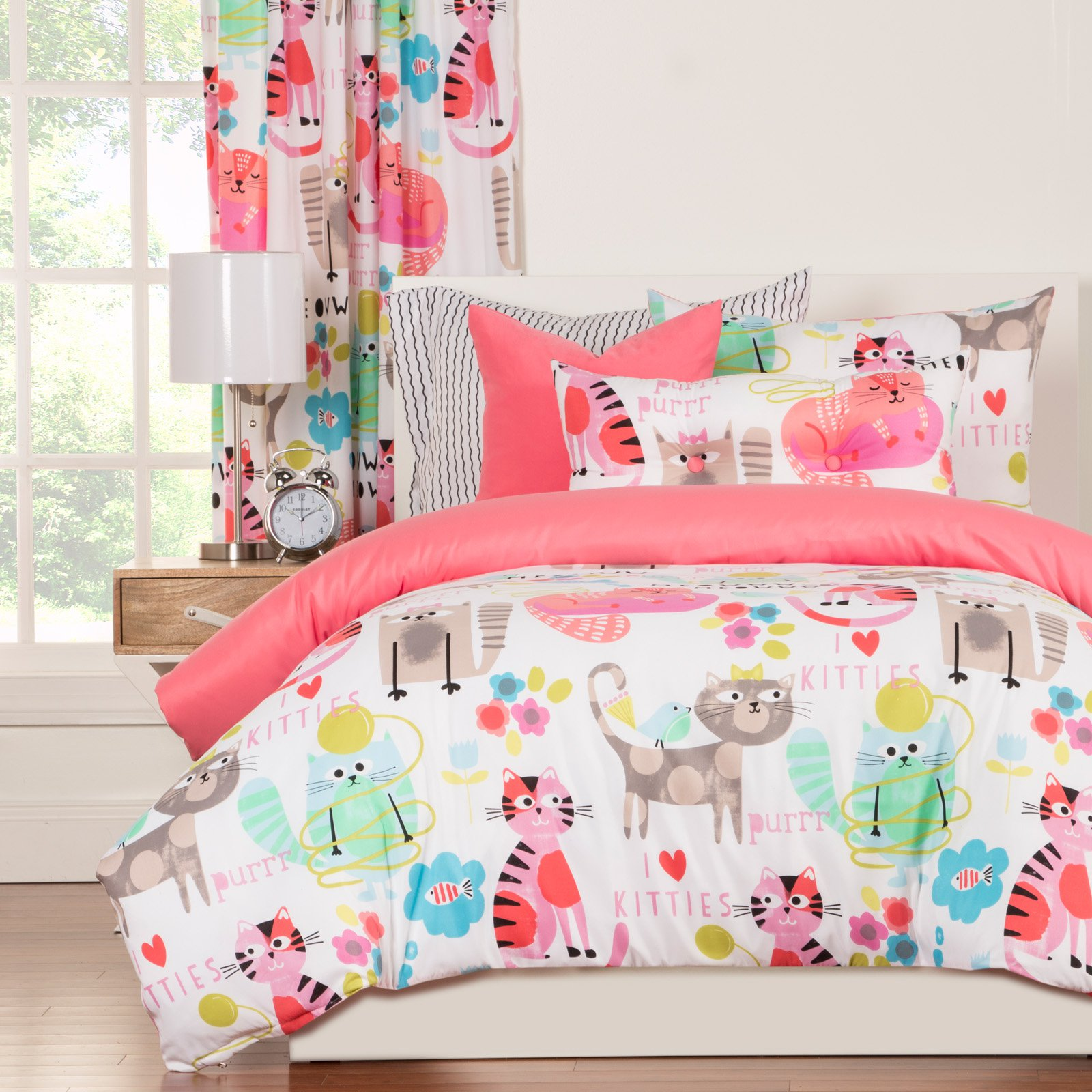 Purrty Cat Duvet Set by Crayola