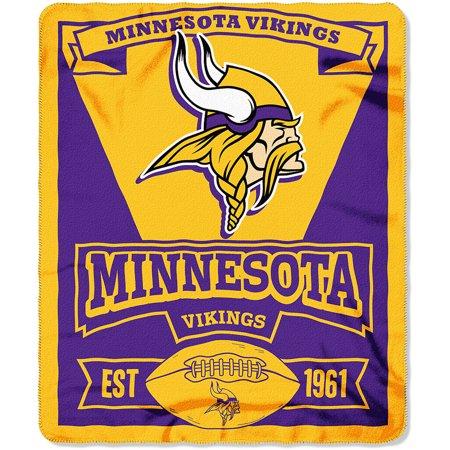 Nfl Minnesota Vikings 50   X 60   Fleece Throw