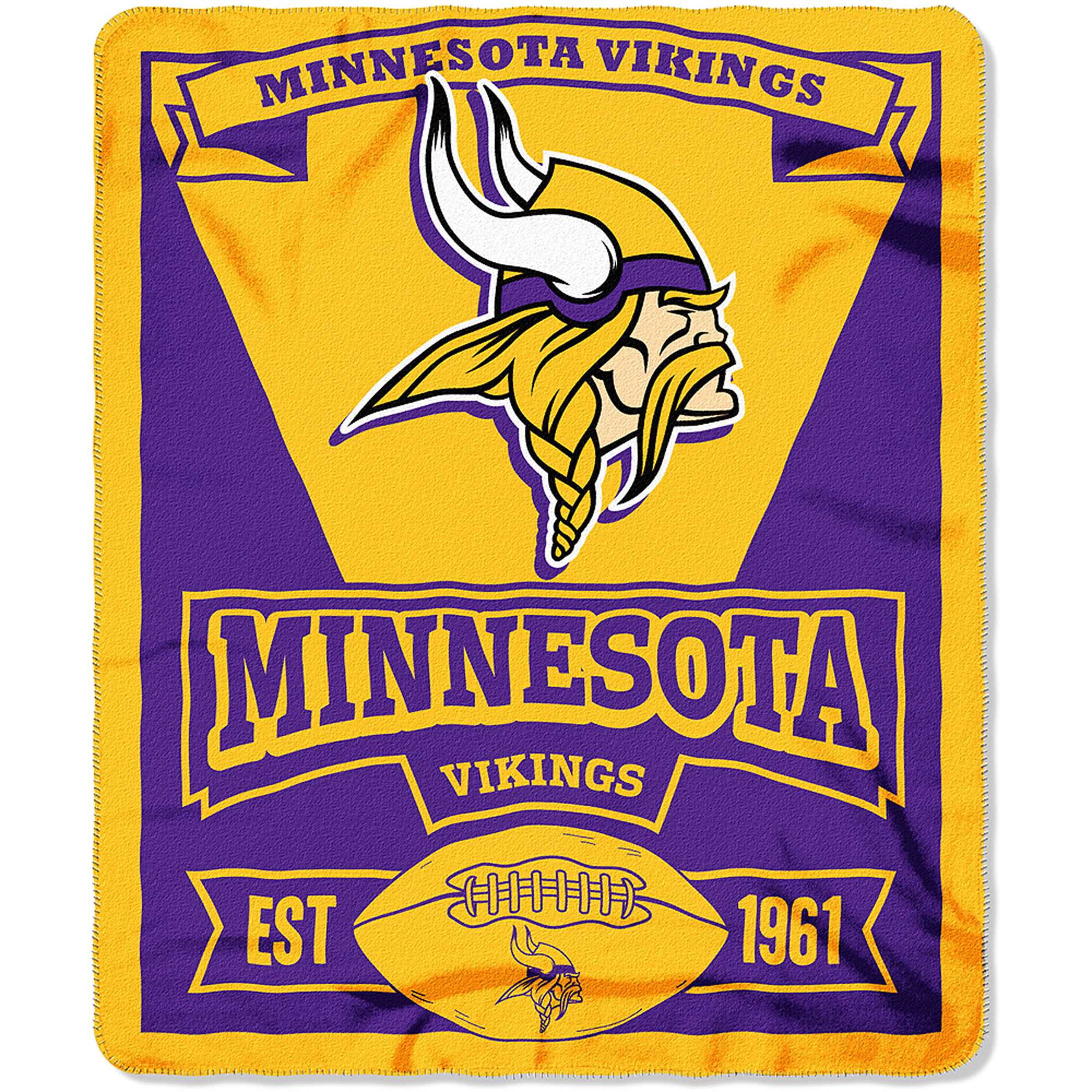 "NFL Minnesota Vikings 50"" x 60"" Fleece Throw"
