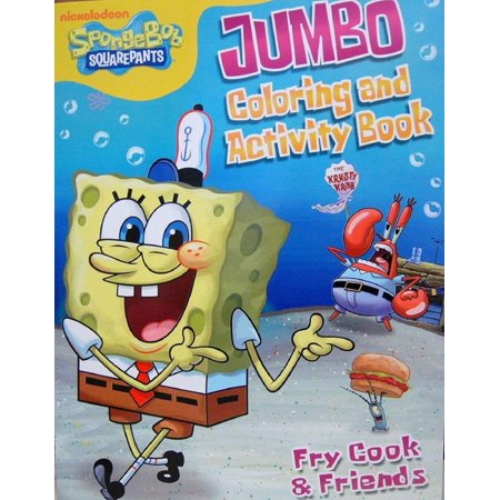 Coloring Book - Spongebob Squarepants - Party Favors - 96 Pages - Fry Cook (Spongebob Squarepants Birthday Party Supplies)