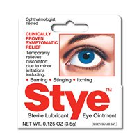 2 Pack Stye Sterile Lubricant Eye Ointment 0.125 Oz Each