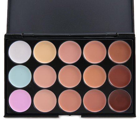 Ktaxon 15 Colors Professional Conecaler Palette Facial Hide Cream Base Makeup
