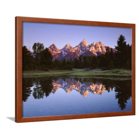 Usa Wyoming Grand Teton Grand Tetons Reflect In Snake