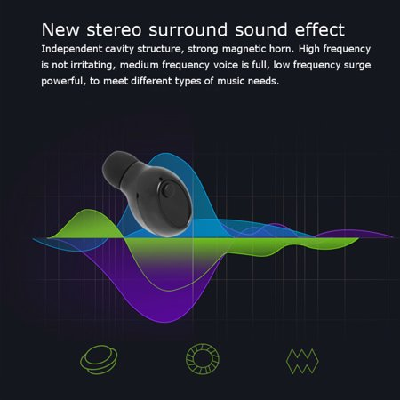 [2019 Version] TWS Bluetooth 5 0 Earbud【True Wireless Stereo】Headphone IPX8  Waterproof in-Ear Wireless Charging Case Built-in Mic Headset Premium