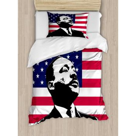 Americana Twin Size Duvet Cover Set Black And White