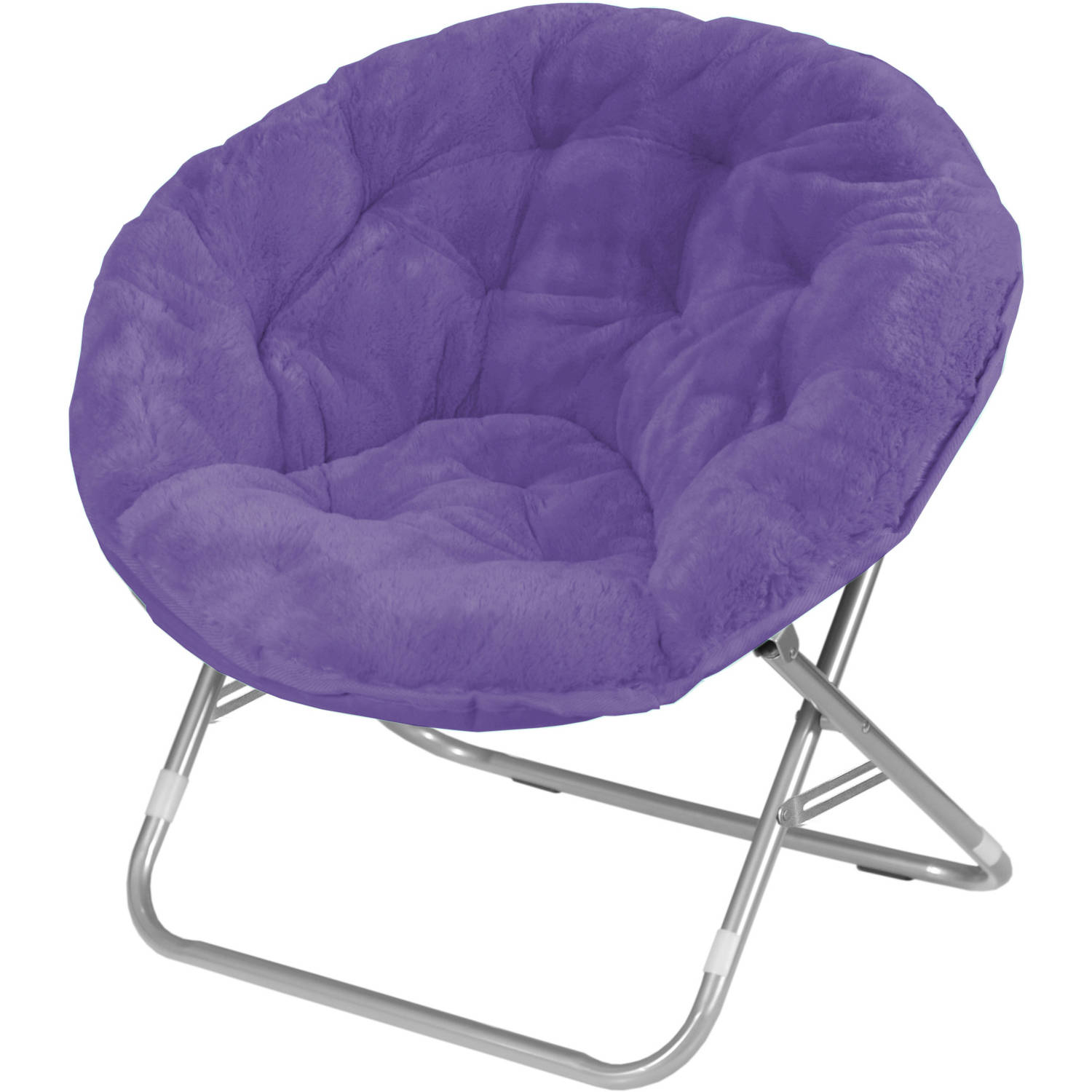 Mainstays Adult Faux Fur Saucer Chair, Purple