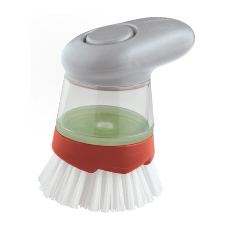 Smart Scrub Soap Dispensing Palm Dish Brush