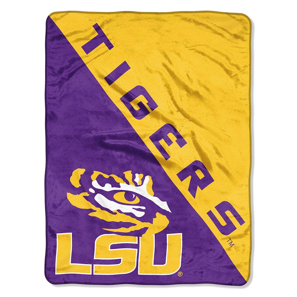 "NCAA LSU Tigers ""Halftone"" 46""x 60"" Micro Raschel Throw"