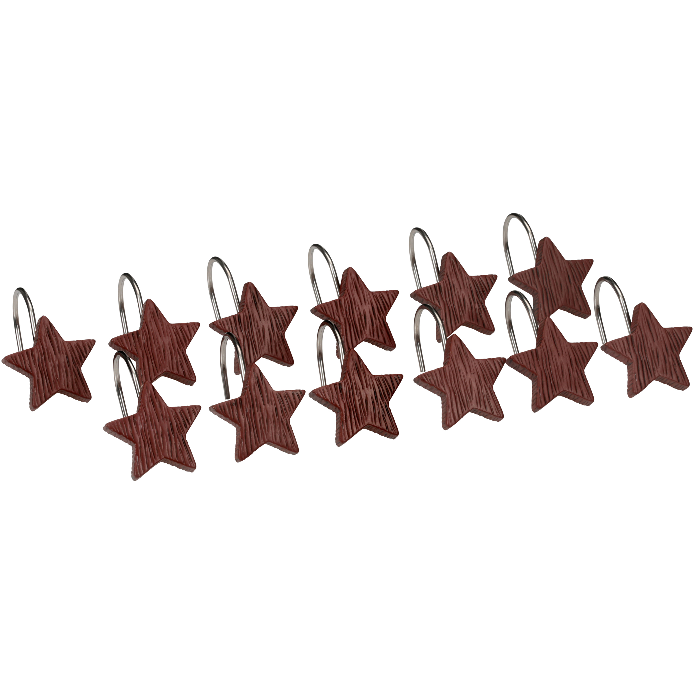 Mainstays™ Rodeo Time Hand Painted Star Shower Curtain Hooks, Set Of Twelve