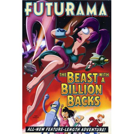 Pop Culture Graphics MOVCI0735 Futurama - The Beast with A Billion Backs Movie Poster Print, 27 x 40 - image 1 of 1