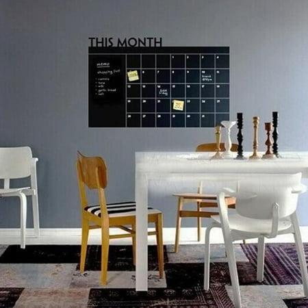 60x92 Month Plan Calendar Chalkboard Blackboard Vinyl Wall Sticker (Family Plan It Calendar)