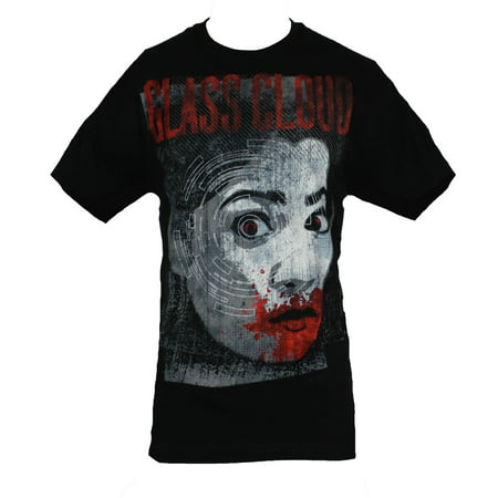 Bloody Face (Glass Cloud Mens T-Shirt - Lined Bloody Mouth Face )