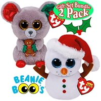 2c779ff6f81 Cp Limited TY Beanie Boos Scoop (Snowman)   Mac (Mouse) Holiday (