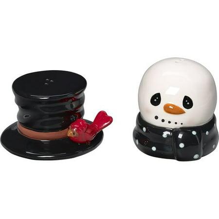 Precious Moments Snow Much Fun Snowman Salt And Pepper Shakers Ceramic 171474 - Snowman Salt And Pepper Shakers