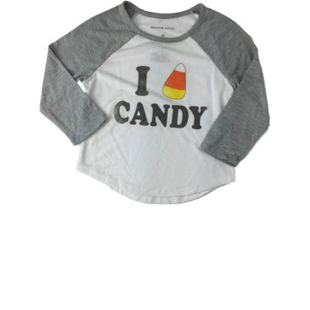 Baseball Girl Halloween (Girls White & Gray I Love Candy Corn Halloween Holiday Baseball)