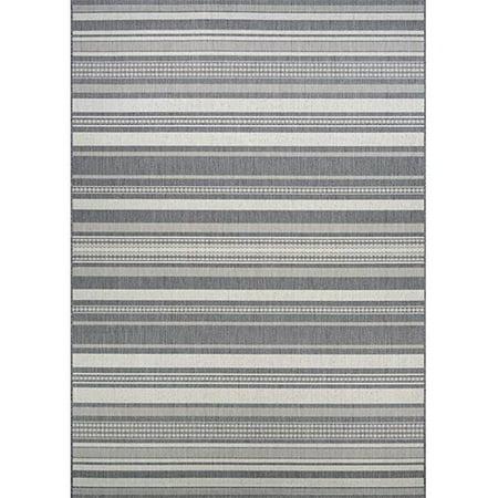 Couristan 53133312039055T 3 ft. 9 in. x 5 ft. 5 in. Recife Gazebo Stripe Rug, Champ & Grey - image 1 of 1