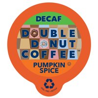 Double Donut, Decaf Pumpkin Spice Flavored Coffee Single Serve Cups, 24 Ct