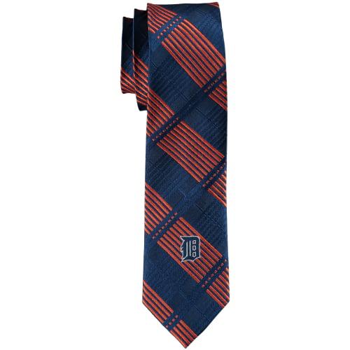 Detroit Tigers Skinny Plaid Tie - No Size