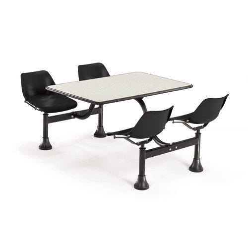 OFM Group/Cluster Table and Chairs 65'' x 48'' Rectangular Cafeteria Table