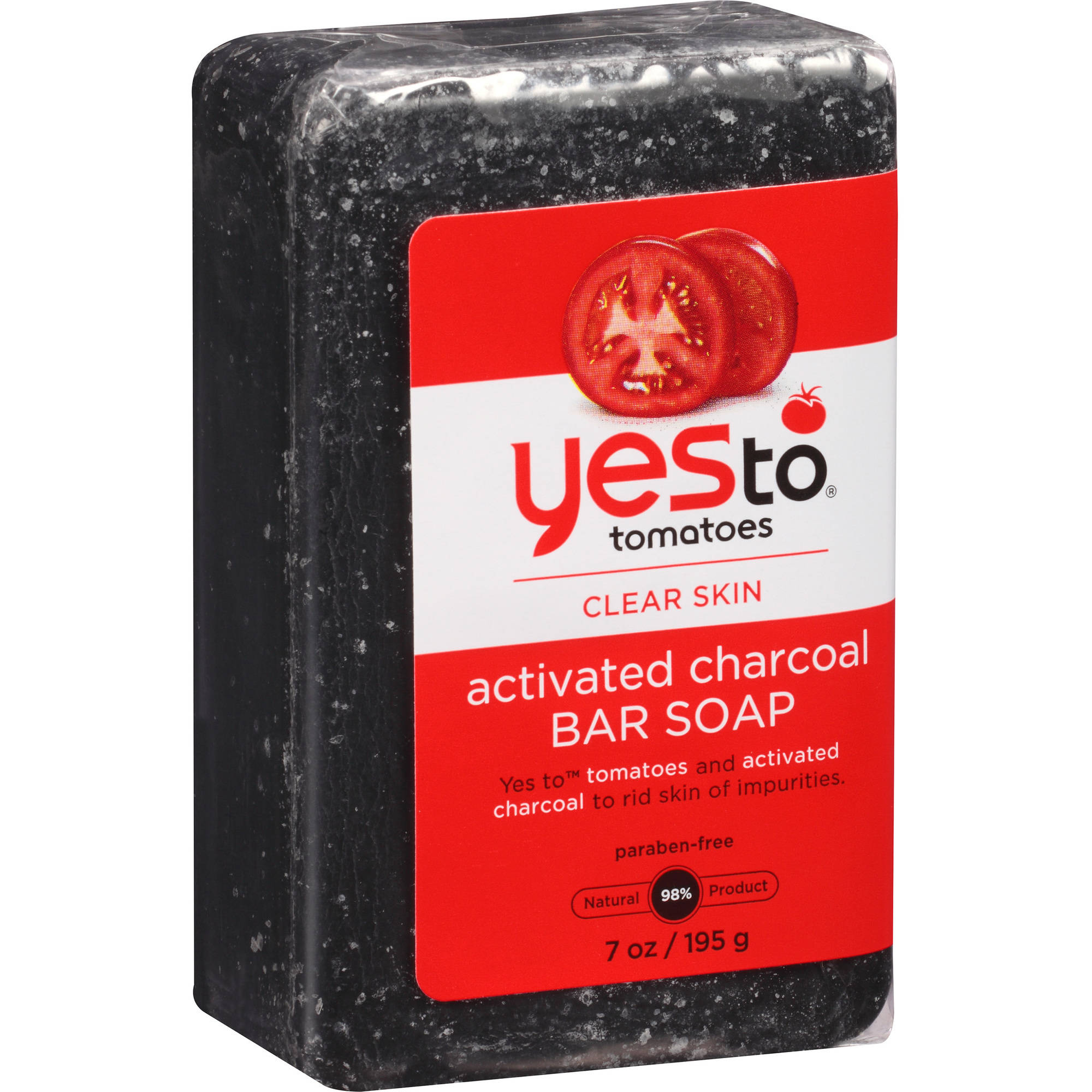 Yes To Tomatoes Clear Skin Activated Charcoal Bar Soap, 7 oz