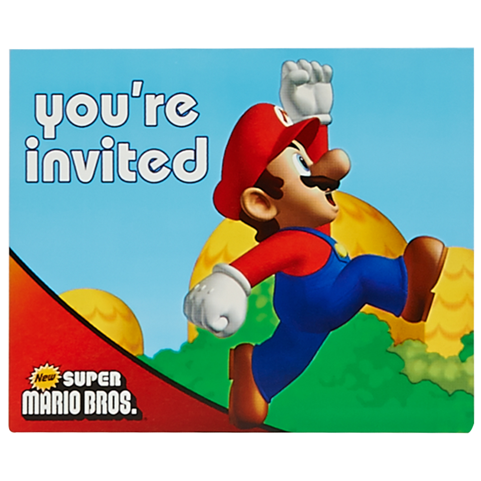 Super Mario Bros Invitations 8pk Walmart Com
