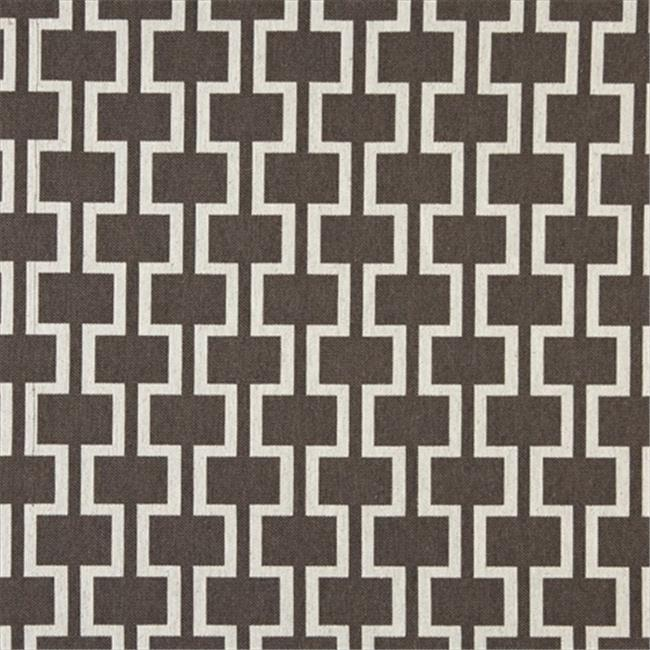 Designer Fabrics K0006D 54 inch Wide Taupe And Off White, Modern, Geometric Designer Quality Upholstery Fabric