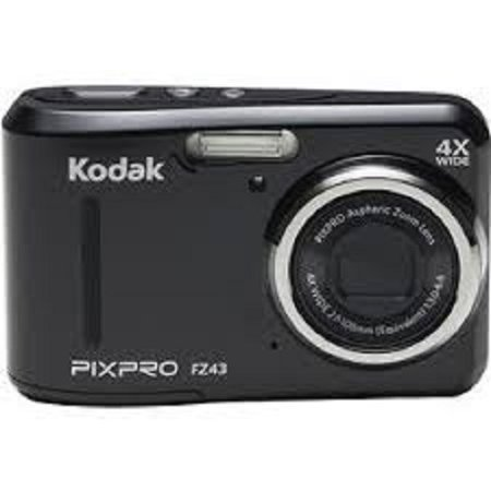 Refurbished Kodak FZ43-BLK  PIXPRO FZ43 Digital Camera  16.15 Megapixels and 4x Optical Zoom