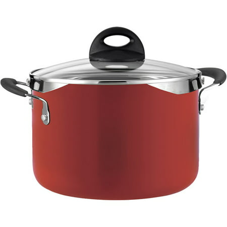 Tramontina Style 6 Quart Lock and Drain Red Enamel Pasta Pot