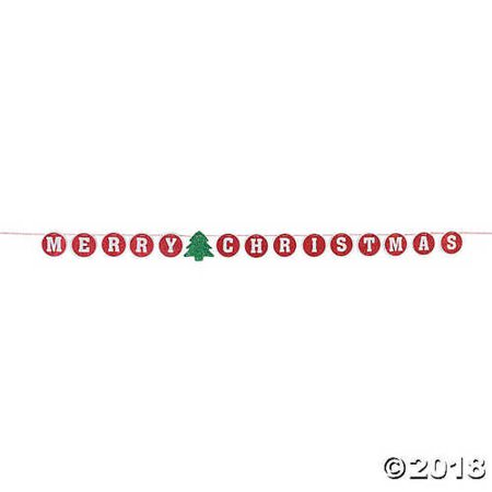 Merry Christmas Glitter Banner (Merry Christmas Glitter Banner)