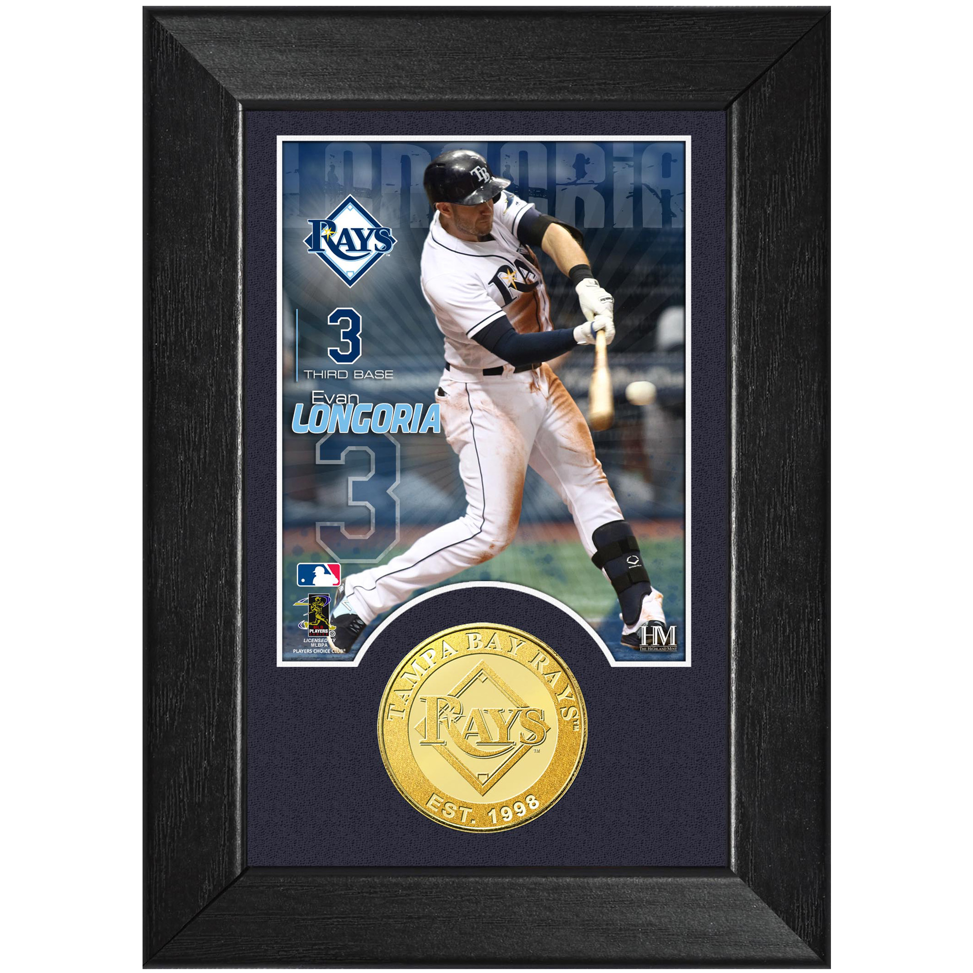 "Evan Longoria Tampa Bay Rays Highland Mint 5"" x 7"" Player Mini Photomint - No Size"