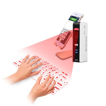 Hilitand Wireless Bluetooth Laser Virtual Projection Keyboard+Touchpad Mouse for Tablet Smartphone, Bluetooth Keyboard Mouse, Virtual Keyboard