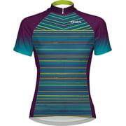 Primal Wear Kismet Women's Cycling Jersey: Blue/Green/Purple, MD
