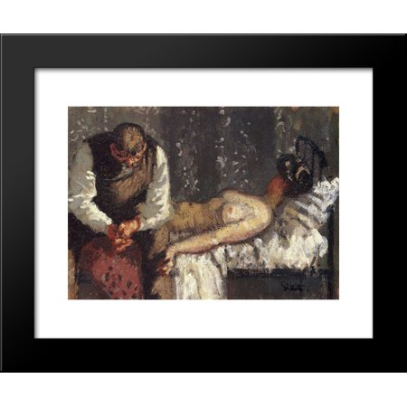 The Camden Town Murder  Or What Shall We Do For The Rent 20X24 Framed Art Print By Walter Sickert