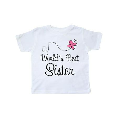 Worlds Best Sister cute Toddler T-Shirt (World Best Cute Girl)