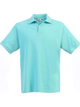 Boys Girls River Blue Short Sleeve School Uniform Polo Shirt 8-16