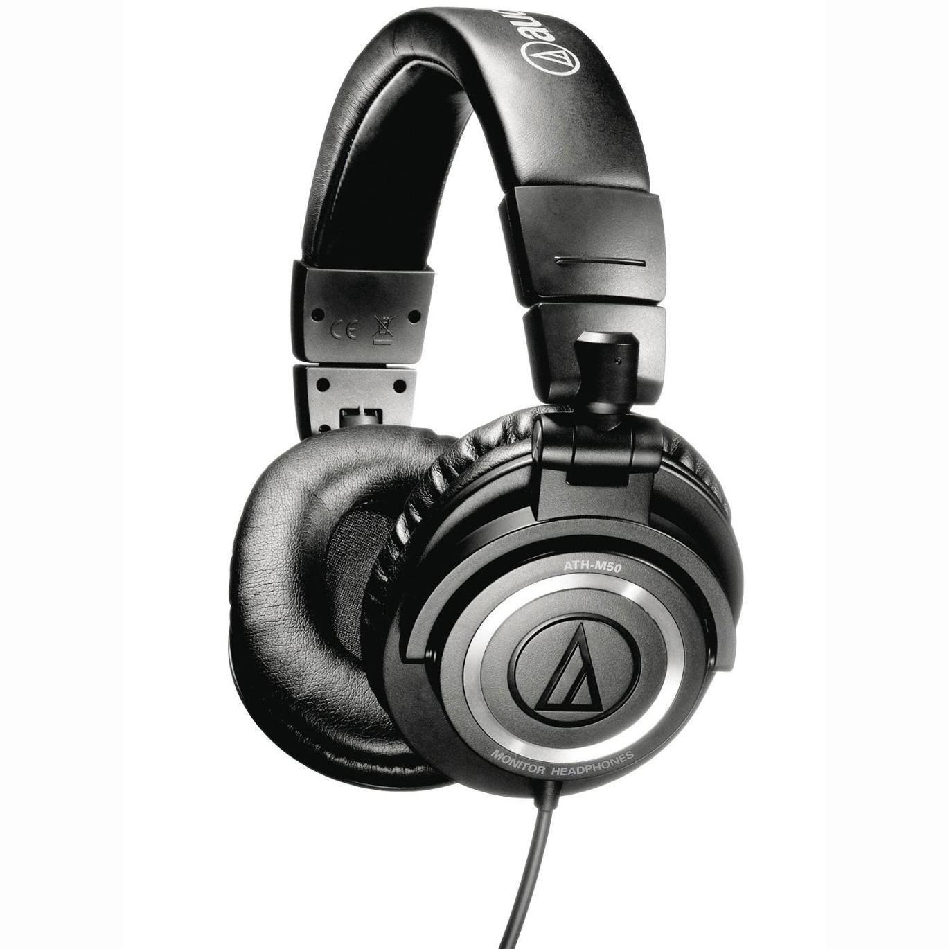 Audio Technica ATHM50 Studio Monitor Headphones with Coiled Cable