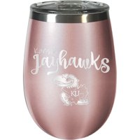 Kansas Jayhawks 12oz. Rose Gold Wine Tumbler - No Size