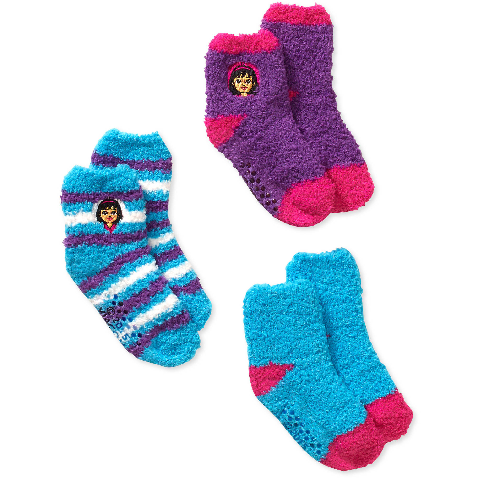 Dora and Friends BabyToddler Girl Quarter Softee Socks - 3 Pack
