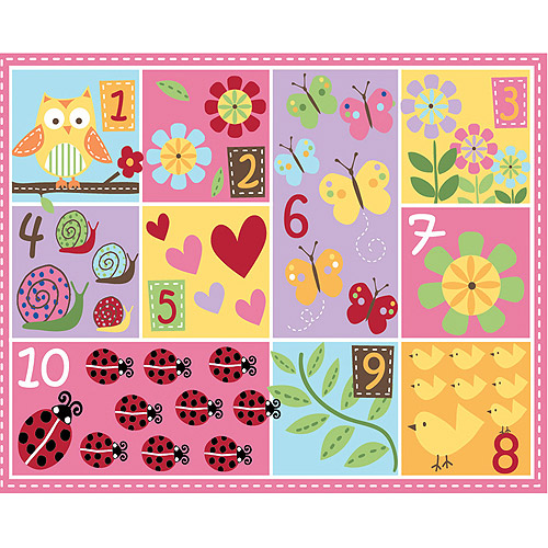 Mainstays Kids Teach Me Numbers Nylon Rug, Multi-Color