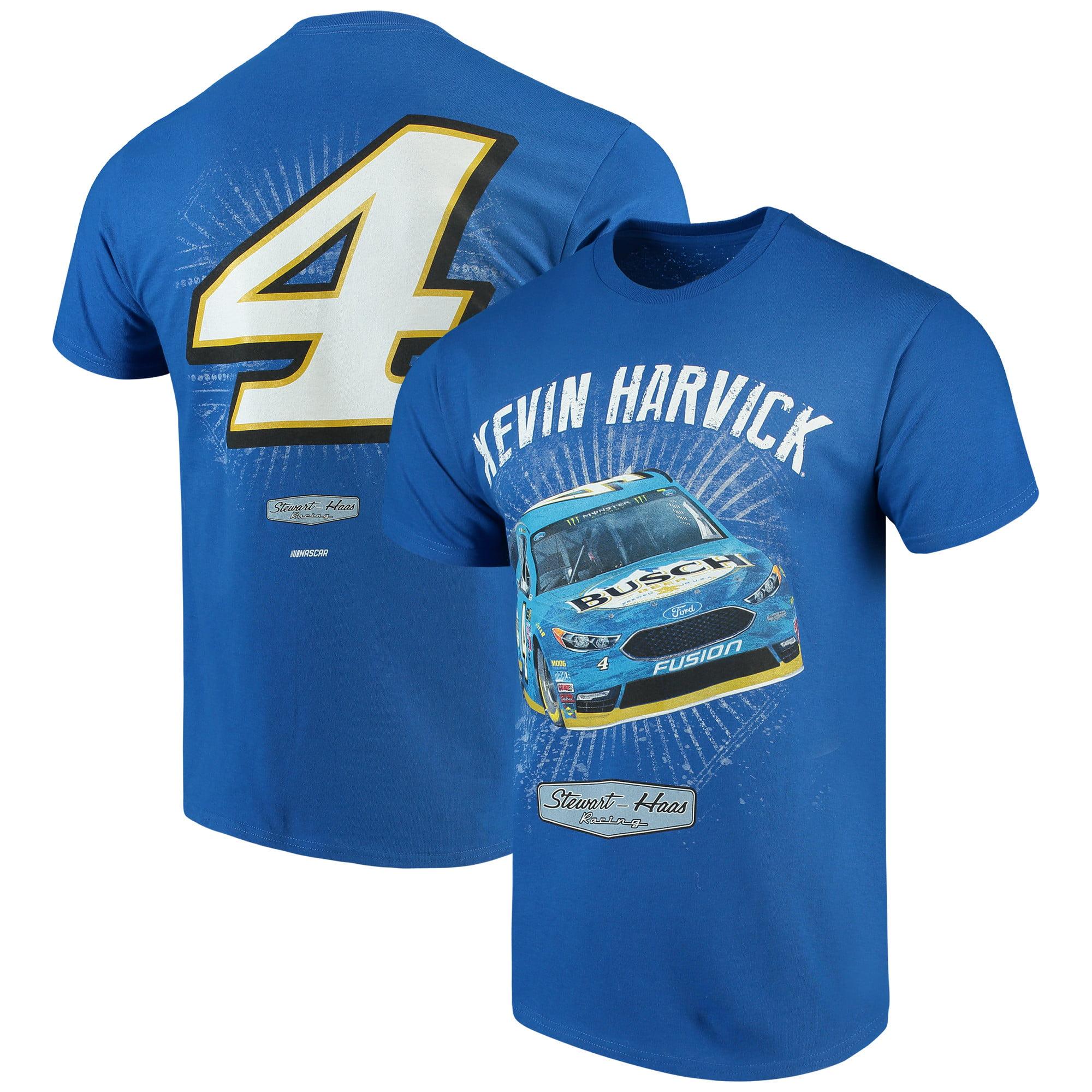Kevin Harvick Checkered Flag Busch Driver T-Shirt - Royal