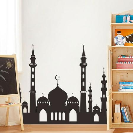 Muslim Ramadan Festival Decoration Mosque Pattern Wall Sticker Decal Poster Home Decor 49.6x57cm - image 6 of 8