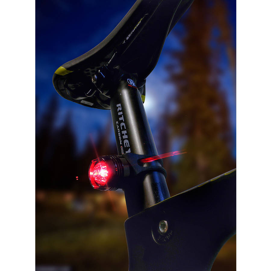 LED Concepts LED Bicycle Light Round Red and White Safety Set