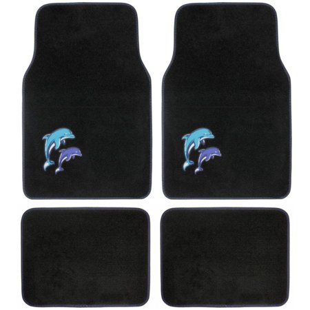 BDK Blue Dolphin Design Carpet Floor Mats for Car SUV, 4 Piece Set (100 Floors Halloween Edition Floor 4)