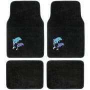 BDK Blue Dolphin Design Carpet Floor Mats for Car SUV, 4 Piece Set
